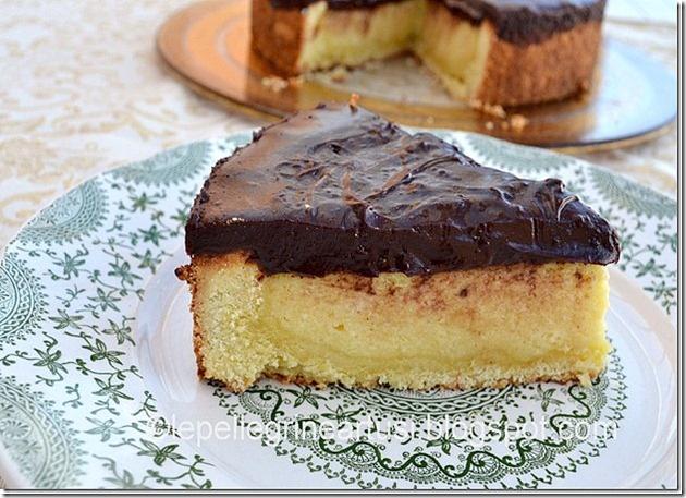 Crostata al semolino con ganache al cioccolato [strabona]