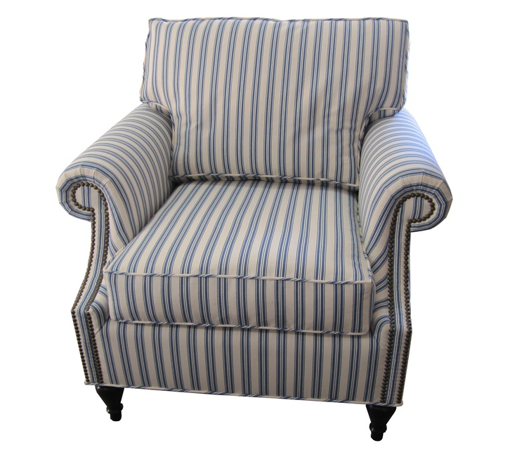 Ticking Stripe Arm Chair Our Projects Pinterest