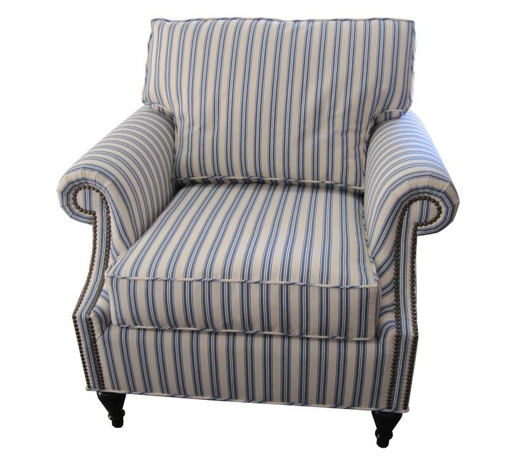 Ticking Stripe Arm Chair