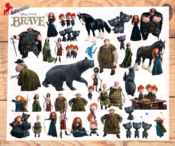 39 Disney Pixar Brave Character PNG Images by RedHorse0088 on Etsy
