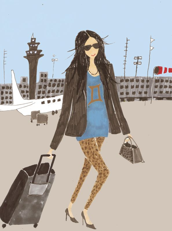 June Horoscope - Emirates Woman. Illustration by Kirsten Sims.