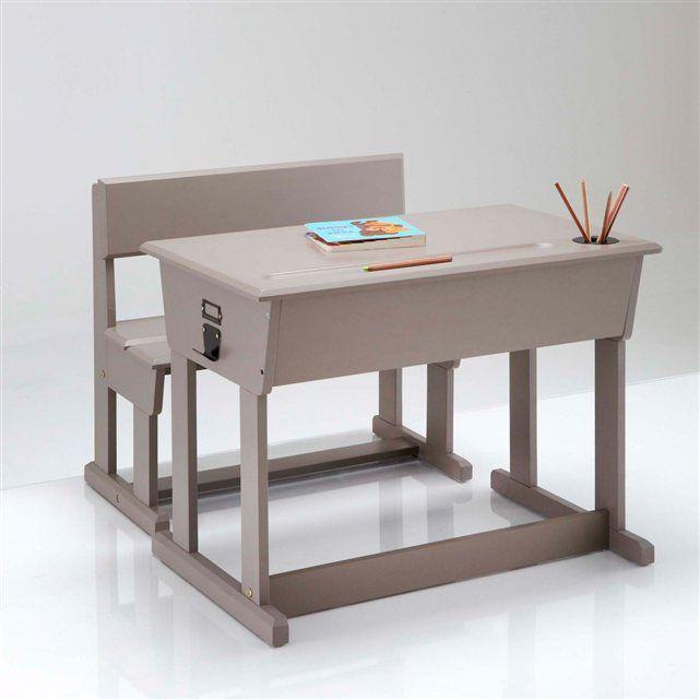 Bureau pupitre + chaise d'écolier, Toudou La Redoute Interieurs (Blanc)