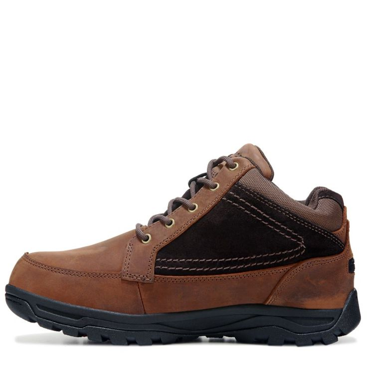 Rockport Works Men's Trail Technique Mid Top Medium/Wide Steel Toe Boots (Brown Leather) - 10.0 M