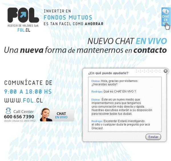 Nuevo chat en vivo, una nueva forma de mantenernos en contacto www.fol.cl