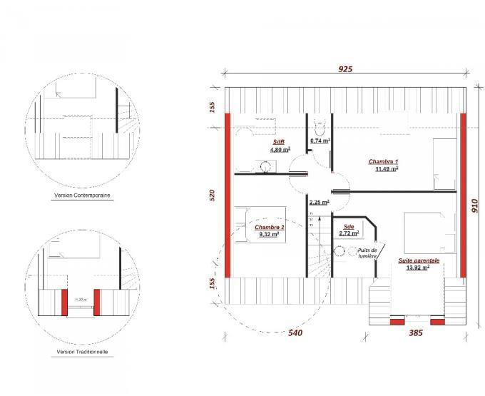 best 49 plans de maisons ideas on pinterest cellier chambres et plans maison. Black Bedroom Furniture Sets. Home Design Ideas
