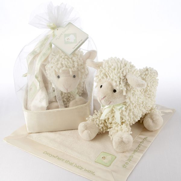 55 best blankets and lovies images on pinterest shower ideas baby aspen love ewe plush lamb and lovie gift set in organza and satin drawstring bag negle Gallery