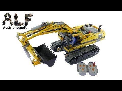 Lego Technic 8043 Motorized Excavator - Lego Speed Build Review - YouTube