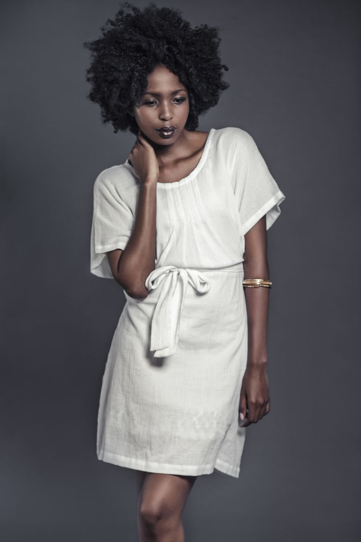 Ladies 100% woven cotton gauze pin-tuck dress with tie. For more information visit:  https://www.facebook.com/pengellyclothing or https://www.pengelly.co.za