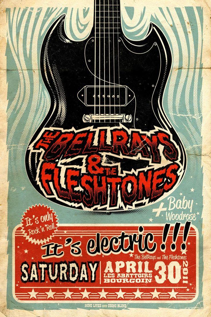 Design poster for concert - Gig Poster Concert Posters Music Posters Rock Posters Poster Ideas Design Posters Hard Rock Rock Roll Rock Art