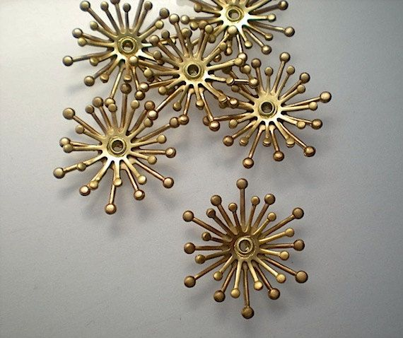6 3D fiore stame stampings di TimeAndMaterials su Etsy