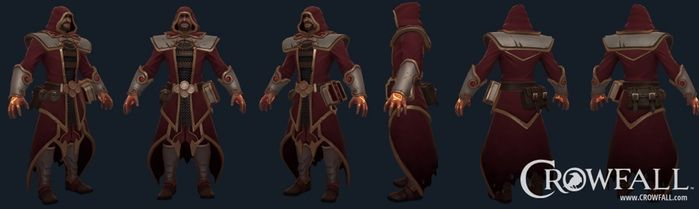 Crowfall game, fire mage (Confessor) 3D model. You can see more on https://crowfall.com/  #Crowfall #gaming #MMO #RPG #MMORPG #PC #PvP #online #multiplayer #3D #model #mage #fire