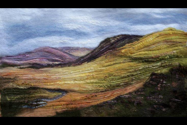 Susan mulcock landscape in felt