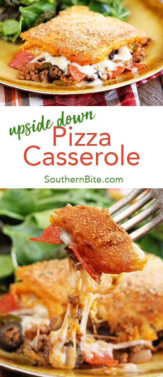 This recipe for Upside Down Pizza Casserole will have your family running back for seconds. It's quick, easy, and super delicious!