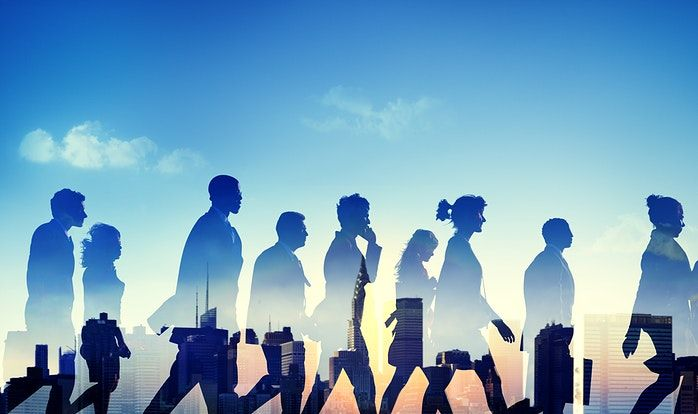 Download Premium Photo Of Group Of Diverse Business People Walking