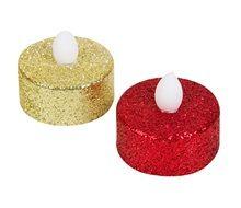 Χριστουγεννιάτικο Ρεσώ Μπαταρίας Glitter 3.5 εκ. - 6 τμχ.