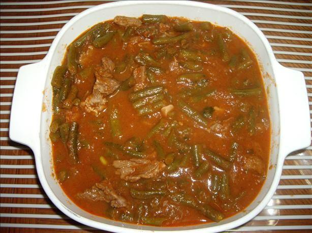 Green Bean Stew (Arabic Recipe). Photo by Hommus