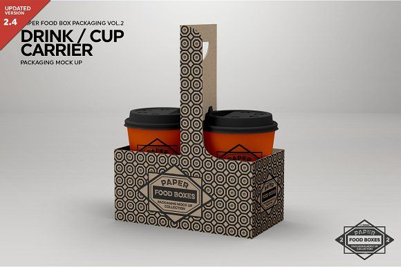 Download Drink Cup Carrier Packaging Mockup Packaging Mockup Free Logo Mockup Psd Mockup Free Psd