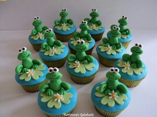 Cupcake kikker