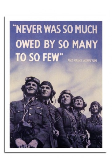 Battle Of Britain - Never Was So Much Churchill Quote Print £7.99