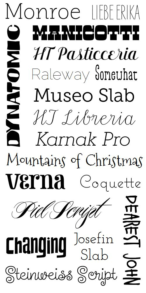 A font mashup