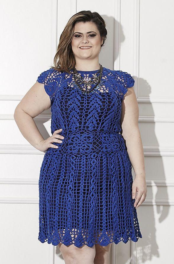 Receitas Círculo - PLUS SIZE - Vestido Azul: