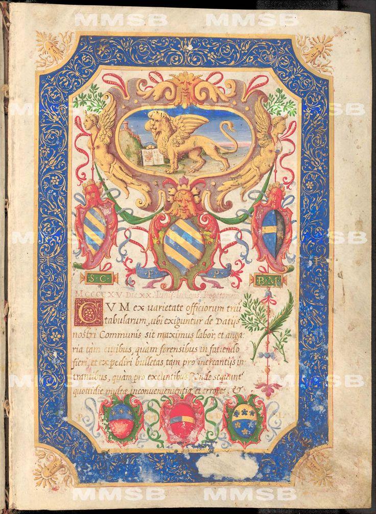 Národní knihovna České republiky Signatura: VIII.H.74 Titul: Decreta mercatoria senatus Veneti (magna ex parte) ab anno 1247 usque ad annum 1565 Místo vzniku: Itálie, Benátky (?) Datace: druhá polovina 16. století (post 1565, snad 1582 ?)