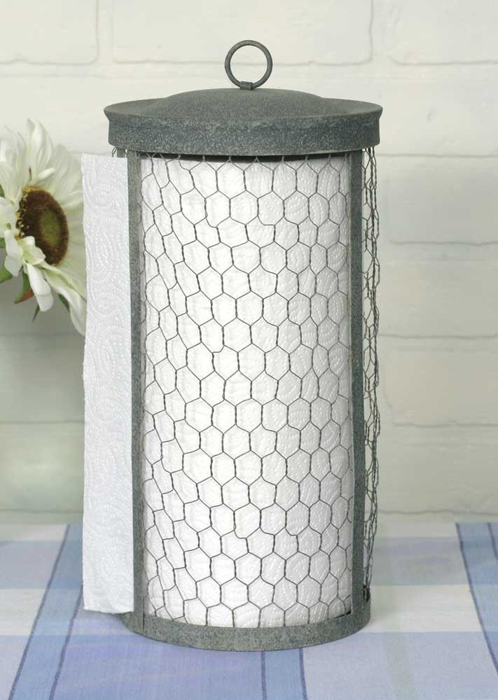 (Exclusive) Chicken Wire Paper Towel Holder