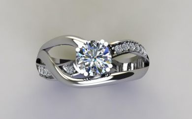 *CD DESIGNER JEWELRY*1.11ctw CZ Engagement Ring in 925 Sterling Silver