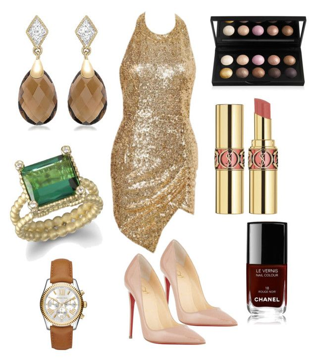 """""""Untitled #5"""" by clemohang on Polyvore featuring Christian Louboutin, Yves Saint Laurent, Chanel and Michael Kors"""