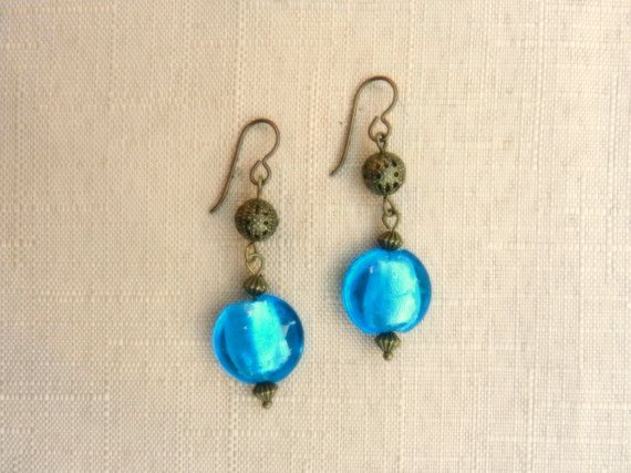 Niobium earrings  Sea blue/sea by TidesEarringDesign on Etsy