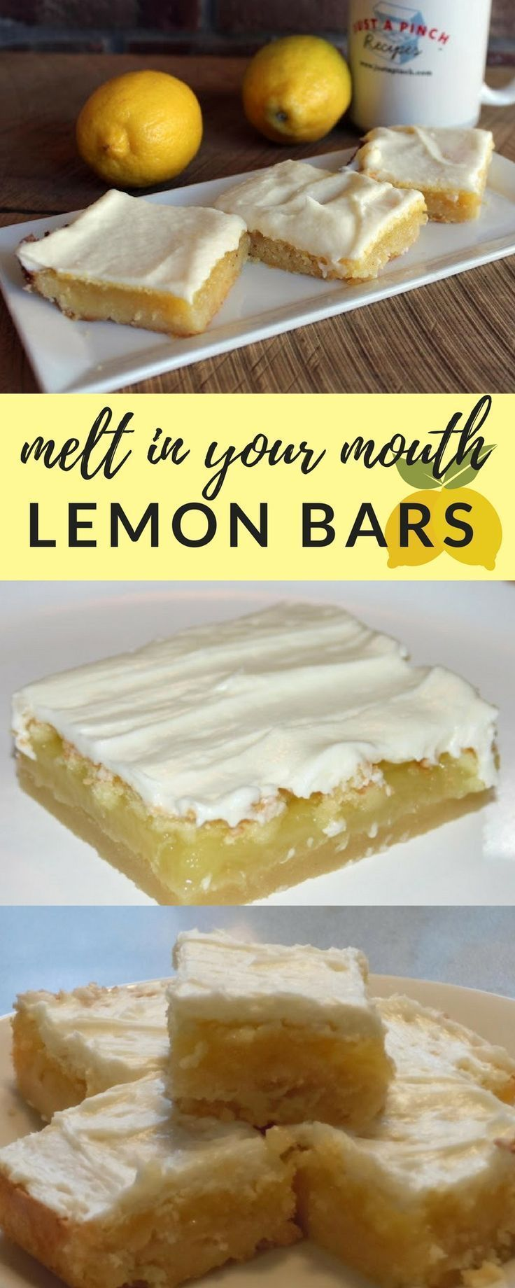 Easy 4 step dessert recipe that everyone will love | Melt In Your Mouth Lemon Bars