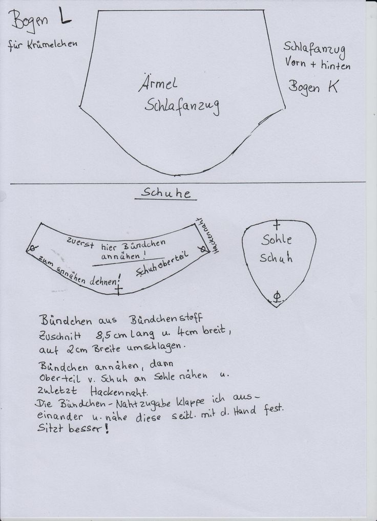 13 best Puppenkleidung Schnittmuster Krümelchen 35 cm images on ...