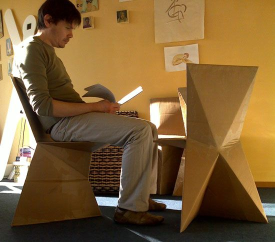 Lovely Creative Cardboard Chairs To Relax In Comfort Photo Gallery