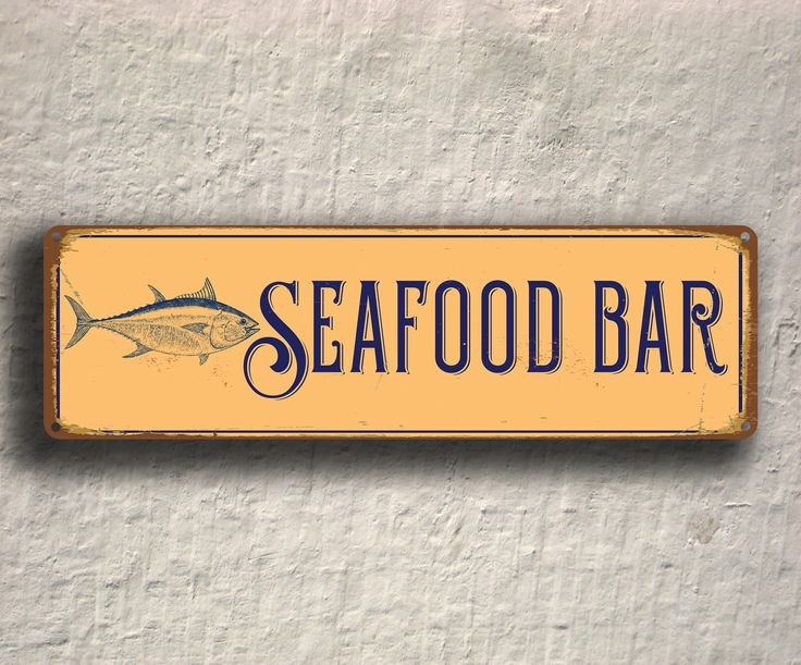 Seafood Bar Sign