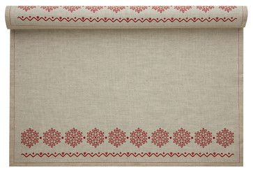 Holiday Printed Placemat, Natural Snowflake traditional-placemats