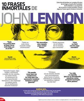 10 frases de John Lennon, vía Notimex