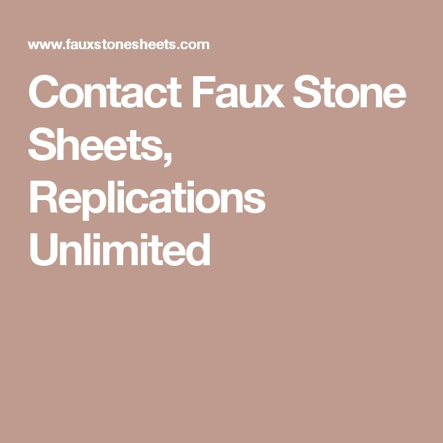 Contact Faux Stone Sheets, Replications Unlimited