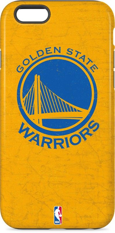 Golden State Warriors Distressed iPhone 6 inkFusion Pro Case. Available as a case or skin for multiple devices | Shop now at www.skinit.com #goldenstate #warriors #iphone #iphonecase