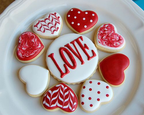 Valentine's Day *Food* - Decorated Sugar Cookies