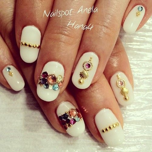 So cool! Try micro beads with rhinestones. | Nails with ...