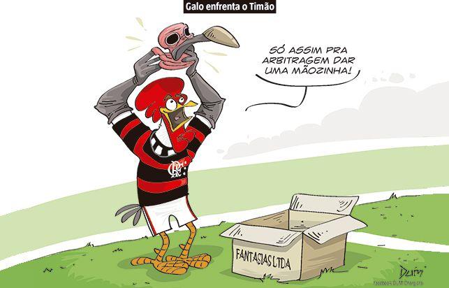 Charge do Dum (Zona do Agrião) sobre a partida entre Atlético e Corinthians (02/08/2017) #Charge #Dum #Futebol #Atlético #Galo #Corinthians #CampeonatoBrasileiro #Brasileirão #HojeEmDia