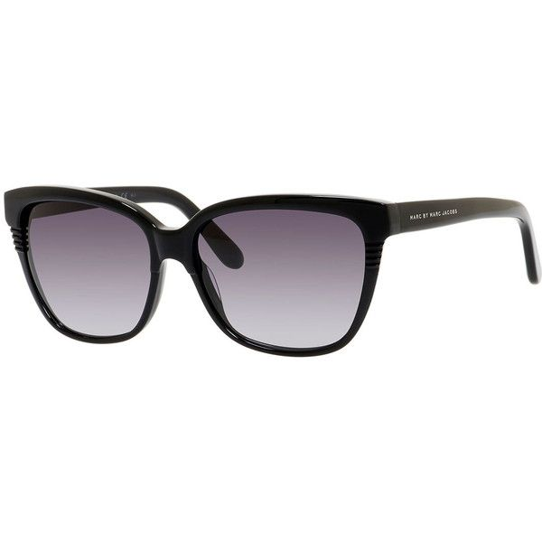 MARC by Marc Jacobs Etched Squared Cat-Eye Sunglasses (1,085 MXN) ❤ liked on Polyvore featuring accessories, eyewear, sunglasses, black, black square glasses, square sunglasses, acetate sunglasses, cateye glasses and square lens sunglasses