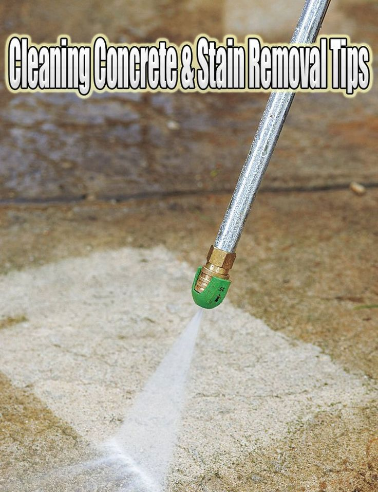 How to Clean Concrete & Stain Removal Tips Clean