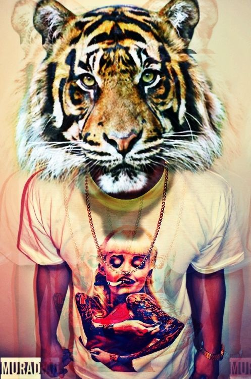 ... tiger tiger head dope swag boy murad photography edits trippy effects