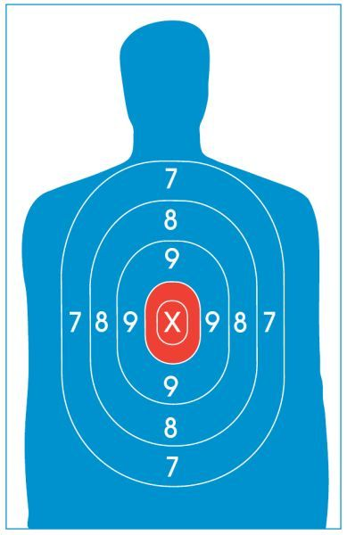 Handy image throughout printable silhouette target