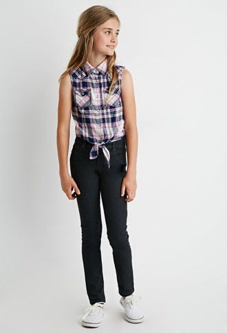 Girls Clean Wash Skinny Jeans (Kids) | Forever 21 girls - 2000172503