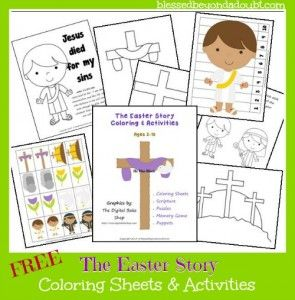 FREE The Easter Story Coloring &; Activities Pages!