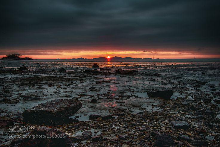 Popular on 500px : A sunset of Ganghwado Island in KOREA by ck4803