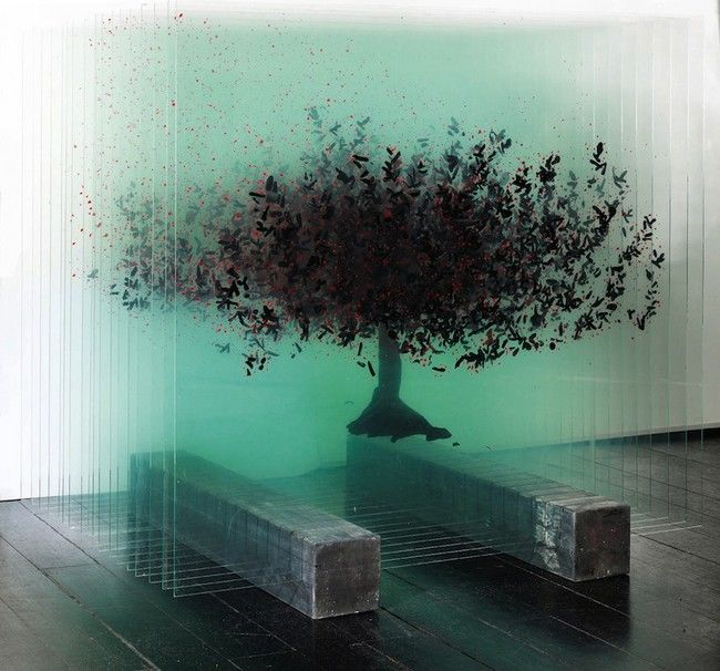 3D Painting on Glass by Ardan Özmenoğlu. - Design Is This