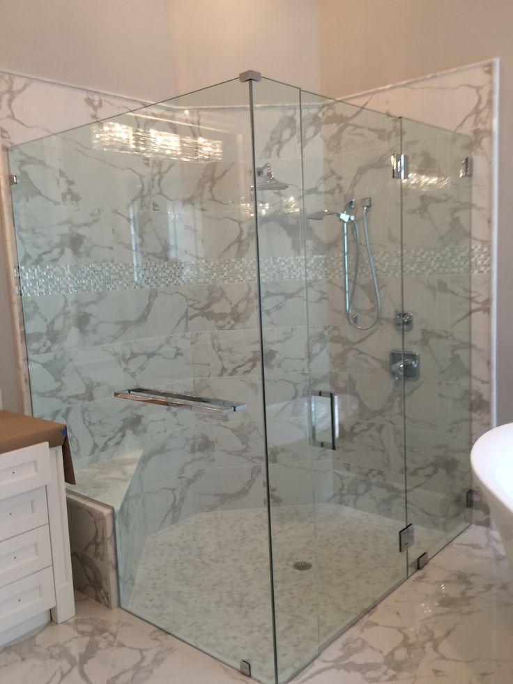 Frameless Shower Door Handle Height